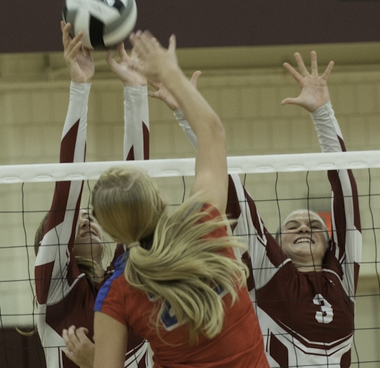 Archers win county volleyball tri-match