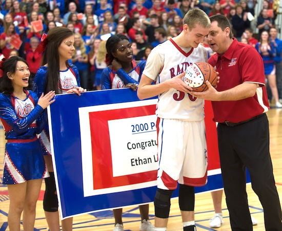 Linder records 2,000th point, Raiders win GMC