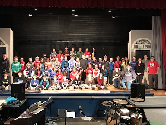 "A large cast of Wayne Trace Jr./Sr. High students will present three performances of the classic musical ""The Music Man"" on Thursday, Friday and Sunday."