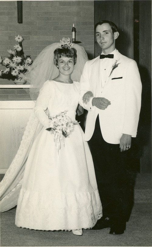 Wedding day in 1964.